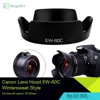Canon Lens Hood EW-60C Wintersweet Style untuk lensa kit 18-55mm