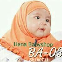 Jilbab Bayi Baru Lahir S (0-2 Tahun) Hijab Kerudung anak Lucu 1 bulan