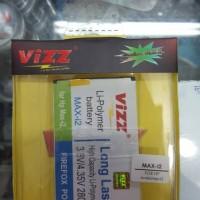 Battery Vizz Andromax I2 Smartfren AD683J 2800mAh Baterai Double Power