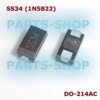 SS34 3A 40V Diode 1N5822 Dioda Schottky 3 A 40 V SMD DO-214AC