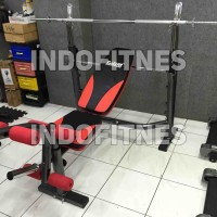 harga BENCH PRESS TL 408 + STICK 3CM,BANGKU KURSI FITNESS,ALAT GYM FITNES Tokopedia.com