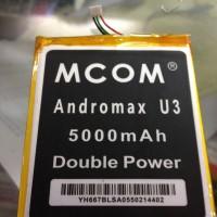 Baterai Tanam Mcom Smartfren Andromax U3 5000Mah Double Power