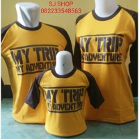 KAOS COUPLE FAMILY RAGLAN ANAK KARAKTER MY TRIP MY ADVENTURE
