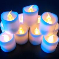 Jual Lilin Elektrik LED FLAMELESS Menyala Kuning Murah
