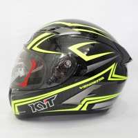HELM KYT Vendetta Carbon Black Yellow Fluo