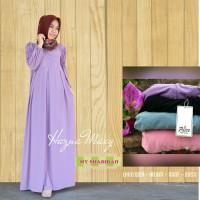 AGH Gamis Hazna Syari (Dress, Busana muslim wanita, dan baju muslimah)