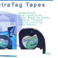 harga Label Letratag Dymo HIJAU-GREEN Plastic Tapes for LetraTag-LETRATAG Tokopedia.com