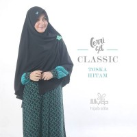 cerry set Classic Hitam toska | Hijab Alila MAgelang