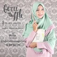 Khimar MAxi Hitam Meroon | Hijab Alila MAgelang