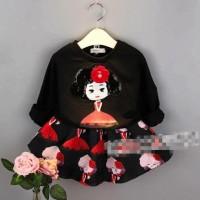 Setelan Anak Perempuan - Sequin Top and Skirt BA32