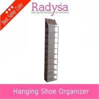 SPESIAL PROMO ! rak sepatu gantung coklat ( Hanging Shoe Organizer )