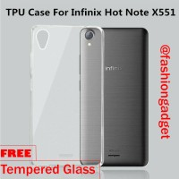 Paket Hemat Ultrathin Case Infinix Hot Note X551 FREE Tempered Glass