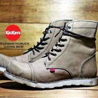 Sepatu boot pria paling keren kickers bahan kulit premium