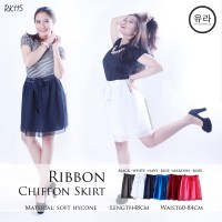 Rok Korea Jesika Iskandar/ Rok Korea Ribbon Chiffon Short Skirt RK115-