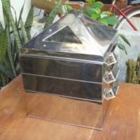 Kukusan Stainless Klakat / Kelakat / Kalakat Kotak Bagus 40x40 2 Susun