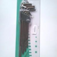 Kunci L Set Bintang 9pcs Wipro