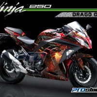 Decal Ninja 250 FI Modifikasi Motif DRAGO Gambar Naga by Prostiker