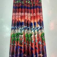 Pensil Spiderman / Pensil Kayu / Pensil Raut