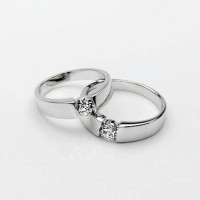 Cincin Kawin cincin tunangan pernikahan lapis emas putih
