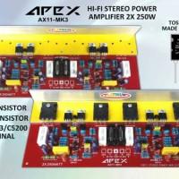Kit Power AMPLIFIER Apex Ax-11 MK3 Full Tr Toshiba