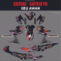Sticker striping motor stiker Suzuki Satria FU Hoonigan Geu Abu Spec B