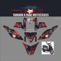 Sticker Striping motor stiker Yamaha X Ride Fox Racing X-Ride - Spec B
