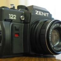 Kamera Analog SLR ZENIT 122 + Lensa Hellios 44M plus Jupiter -21M