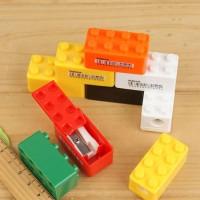 Serutan Pensil Mini Bentuk Lego