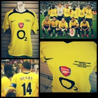 jersey retro arsenal 2005 away final paris