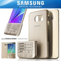 SAMSUNG Galaxy Note 5 Keyboard Cover Case Original - Gold