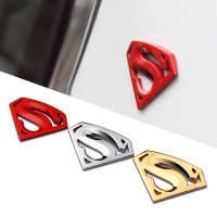 3D Superman Emblem Full Metal Sticker SuperHero Stiker Car Logo
