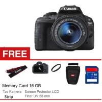 Canon EOS Kiss X7 / EOS 100D + Lensa Kit 18-55 IS STM - 18 MP - Hitam