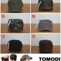 Jual Topi Komando Polos dan Loreng Camo Plain Vintage Army Military Dewasa Murah