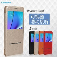 harga Usams Wyon Flip Cover View Clear Book Case Samsung Galaxy Note 5 N9200 Tokopedia.com