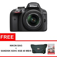 Nikon D3300 Kit 18-55mm VR II Free Nikon Bag + Sandisk Ultra 8gb