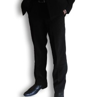 urban act celana panjang slim fit formal bahan hi twist warna hitam