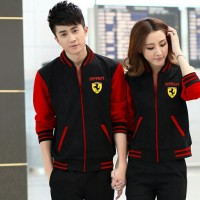 harga Jaket Cardigan Couple Cp Ferrari Red Tokopedia.com