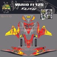 harga Sticker striping motor stiker Honda Vario FI 125 Click Merah Spec B Tokopedia.com