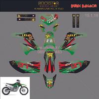 Sticker striping motor stiker Kawasaki KLX D-Tracker Bangor Spec A