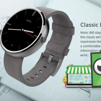 Jam Tangan Pintar Motorola Moto 360 Smartwatch With Leather Strap
