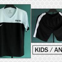 harga Baju Setelan Kaos Bola Anak Nike T90 III Hitam Putih Kids Murah Tokopedia.com