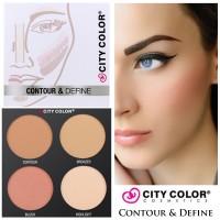 City Color Contour & Define Palette Blushon Bronzer Shading Makeup