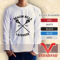 Kaos lengan panjang Beacon Hills Lacrosse Logo Nd