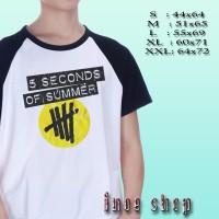 Kaos Raglan 5 Seconds of Summer Band Logo | Kaos Music