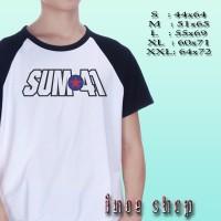 Kaos Raglan Sum 41 Logo | Kaos Music