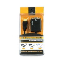 Kabel Konverter dari HDMI ke VGA / HDMI to VGA Adapter with Audio Port