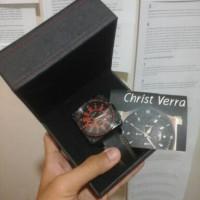 harga jam tangan Christ verra 7R32-26 black-red Tokopedia.com
