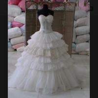 Jual [PROMO] Layer Ball Gown Wedding Dress Murah