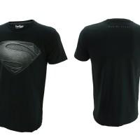 Jual Kaos Superhero TopGear Superman Man Of Steel Logo Version Black Murah