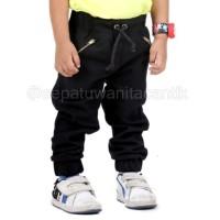 Celana Panjang Anak Black Jogger Canvas 2-6 Tahun Terbaru TS4177